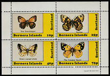 GB Locals - Bernera (1125) 1981 BUTTERFLIES perf sheetlet unmounted mint