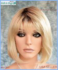 Blair Lightweight Open Cap Wig  Color 102S8 Shaded Cream Medium Bob USA Seller B