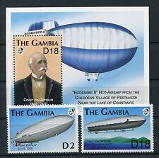 Gambia 1461/62 Block 176 postfrisch / Zeppelin ...........................1/3169