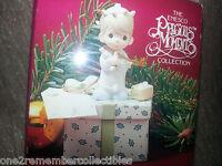 PRECIOUS MOMENTS 1991 Mini Trinket Box MAY YOUR CHRISTMAS BE DELIGHTFUL Enesco