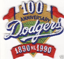 1990 LOS ANGELES DODGERS MLB BASEBALL 100TH YEAR PATCH