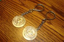#2 Two Vintage ARMY: UNITED STATES ARMY RESERVE design key chains Silver Tone