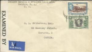 British Honduras SG#156,#153 BELIZE NO/2/42-WWII CENSOR TAPE 12383(EL PAS