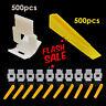 1000 Tile Leveling Spacer 500 Clips + 500 Wedges Flooring Level Lip page Set UK