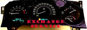 BUICK LESABRE 2000 2001 2002 2003 2004 2005 DASH GAUGE CLUSTER EXCHANGE SERVICE