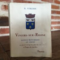 Henri Vergnes Viviers-su-Rhône Istruzioni Storia Guida Turisti 1950
