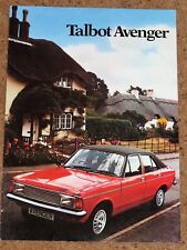 1981 TALBOT AVENGER Sales Brochure - Saloon & Estate 1.3 1.6 LS GL GLS