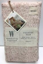 Wamsutta Vintage Paisley Euro Pillow Sham in Blush, 26 X 26 Inches