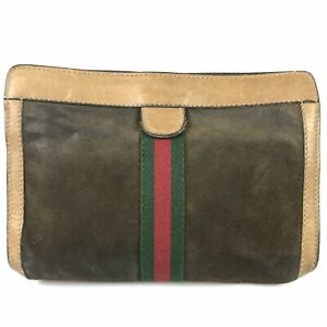 100% authentic Gucci vintage sherry line second bag used 1166-3-B