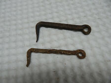 """Vintage! 2Pc. 4"""" Hand Made Forged Iron Gate Hooks"""