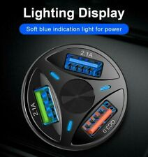3 Ports Usb Car Charger Adapter Led Display 3.0 Fast Charging for Ios Android Us