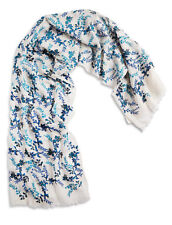 LUCKY BRAND Women's Embroidered Floral Vine Scarf Linen & Cotton Blend $69.50
