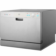Countertop Portable Dishwasher Machine In Silver ~ Compact Apartment Dishwashing