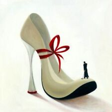 Inna Panasenko: Highheels Romance Fertig-Bild 50x50 Wandbild Kult Pop