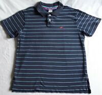 Nike Men's XL Blue Striped Short Sleeve Polo Shirt