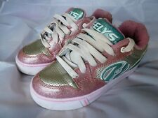 HEELYS PINK GLITTER SKATE TRAINERS SIZE UK 13