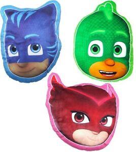 PJ Mask Cushion Catboy / Owlette / Gekko Kids Bedroom Bedding Character 35cm