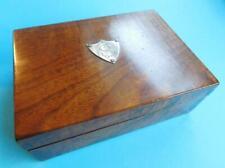 Beautiful Australian Blackwood Wood Box Sterling Silver Cartouche c1900s