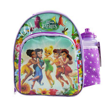 NEW DISNEY FAIRIES TINKERBELL GIRLS INSULATED LUNCH BOX BAG WITH DRINK BOTTLE