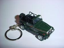 NEW 3D GREEN JEEP WRANGLER CUSTOM KEYCHAIN keyring key 4x4 offroad sahara 1992
