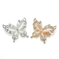 Women Fashion Jewelry Butterfly Gold/Silver Plated Crystal Rhinestone Brooch Pin