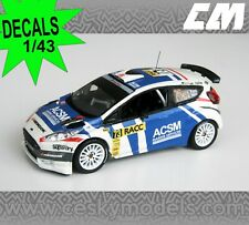 DECALS 1/43 FORD FIESTA R5 XEVI PONS RALLY RACC 2014 RARE