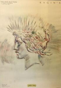 1983 Ana Auction - Kagin's (Peter Max) Lady Liberty