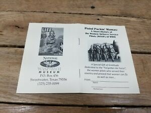 VINTAGE Women Pilots of World War II national wasp/WWII museum booklet