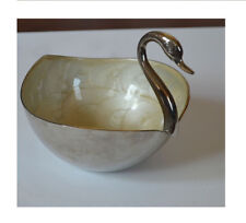 Silver Metal Swan Shape Home Decorative Storage Bowl from India!