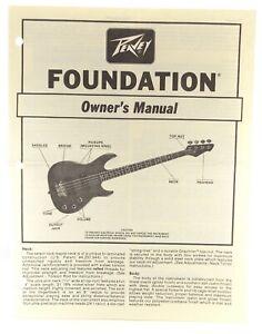 PEAVEY FOUNDATION BASS ORIGINAL FACTORY OWNERS MANUAL Vtg 1983 PV No 80300018