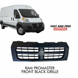 Ram Pro Master Dodge 1500 2500 3500 Front Grille Radiator Assembly Black 2014-18