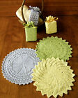 3 SETS of SOAP SACKS  WASH CLOTH BATHTIME BLOSSOMS to KNIT by FIBER TRENDS