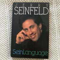 Jerry Seinfeld Hardback Book SeinLanguage Stand Up Comedian 1993 EUC