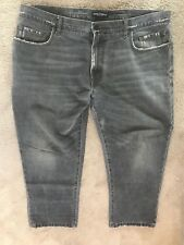 Dolce y Gabanna D&g Hombre Placa Denim Jeans pierna más corta Ultra Raro 100% Real