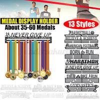 Edelstahl Medaillenhalter Medaillen Aufhänger Display Running /Swimming /Fußball