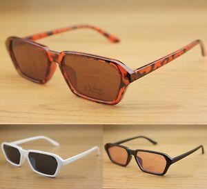 Rectangle Sunglasses Tinted Lenses Womens Mens UV400 Fashion Vintage Retro
