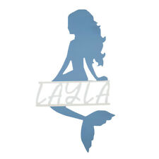 Personalised mermaid name sign Girls bedroom wall decor made from wood
