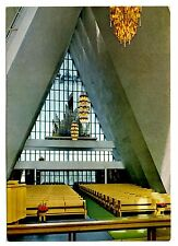 Norway Postcard Interior of Tromsdalen Church Tromso Pews Chandeliers Windows