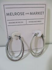 Nordstrom Melrose and Market Crescent Hoop Earrings NWT $45