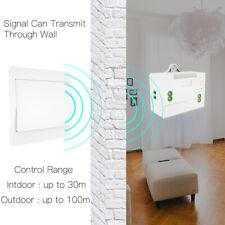 RF433 Wireless Remote Control Switch No Battery Self Powered Wall Light Switch