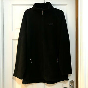 Regatta Black Fluffy Fleece Zip up Jumper Size 16 Outdoors