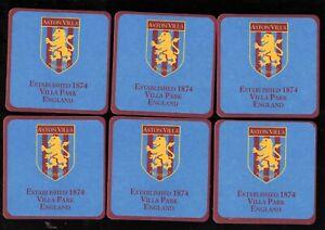 ASTON VILLA  F.C. Official Crested Beer Mats / Coasters FREE POSTAGE UK EST 1874