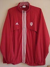 adidas Mens L/S Full Zip Red Indiana U. Windbreaker - Size XXL