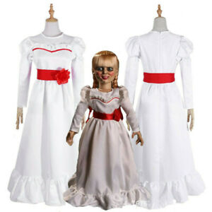 Adult Kids Halloween Cosplay ANNABELLE The Conjuring Doll Fancy Dress Costume