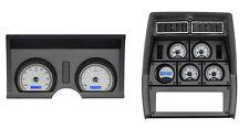 1978-82 Chevy Corvette Silver Alloy & Blue Dakota Digital VHX Analog Gauge Kit