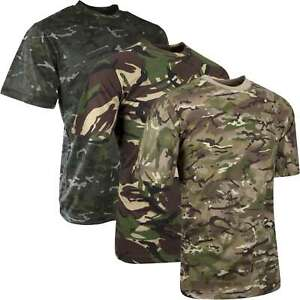 Mens Short Sleeved T-Shirt BTP DPM Camouflage 100% Cotton Military Cadet Army