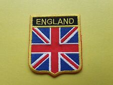 WORLDWIDE FREEPOST COUNTRY SHIELD FLAG SEW & IRON ON PATCH - ENGLAND GT. BRITAIN