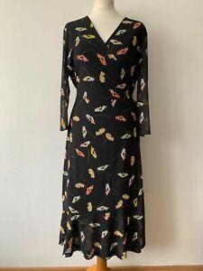 Sosandar Floral Wrap Midi Dress Size 16