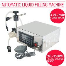 AUTOMATIC LIQUID FILLING MACHINE PACKING QUANTITATIVE NUMERICAL CONTROL 110V NEW