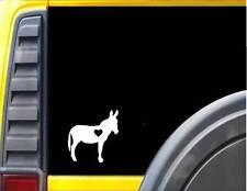 Donkey little heart Decal Sticker J481 mule horse burro jack jenny